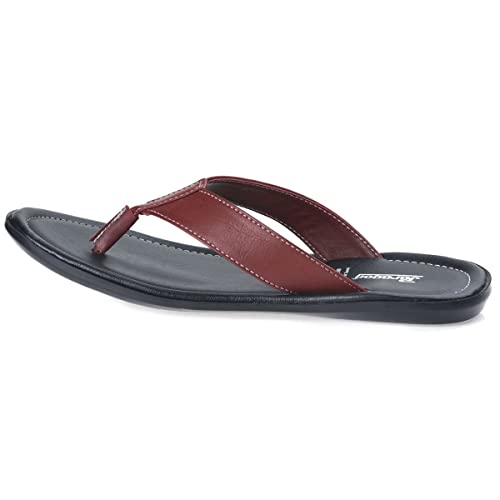 2219d627f82e PARAGON Vertex Plus Men s Maroon Flip-Flops  Buy Online at Low Prices in  India - Amazon.in
