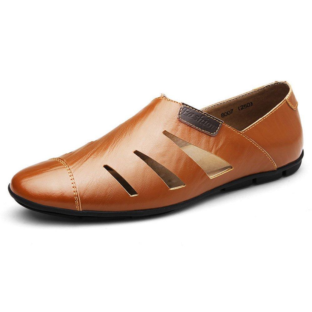 Zapatos Ocasionales Respirables para Hombres Zapatos Huecos De Cuero 40 EU|Brown