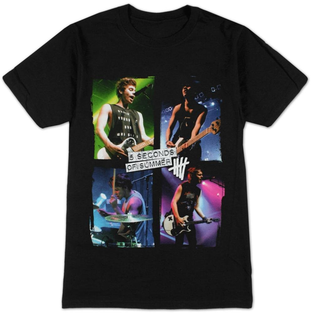 5 Seconds of Summer- Live in Colours T-Shirt Size S