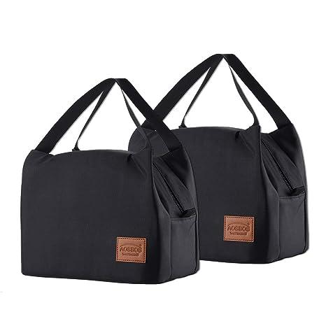 Amazon.com: Aosbos - Bolsa de almuerzo aislada para mujeres ...
