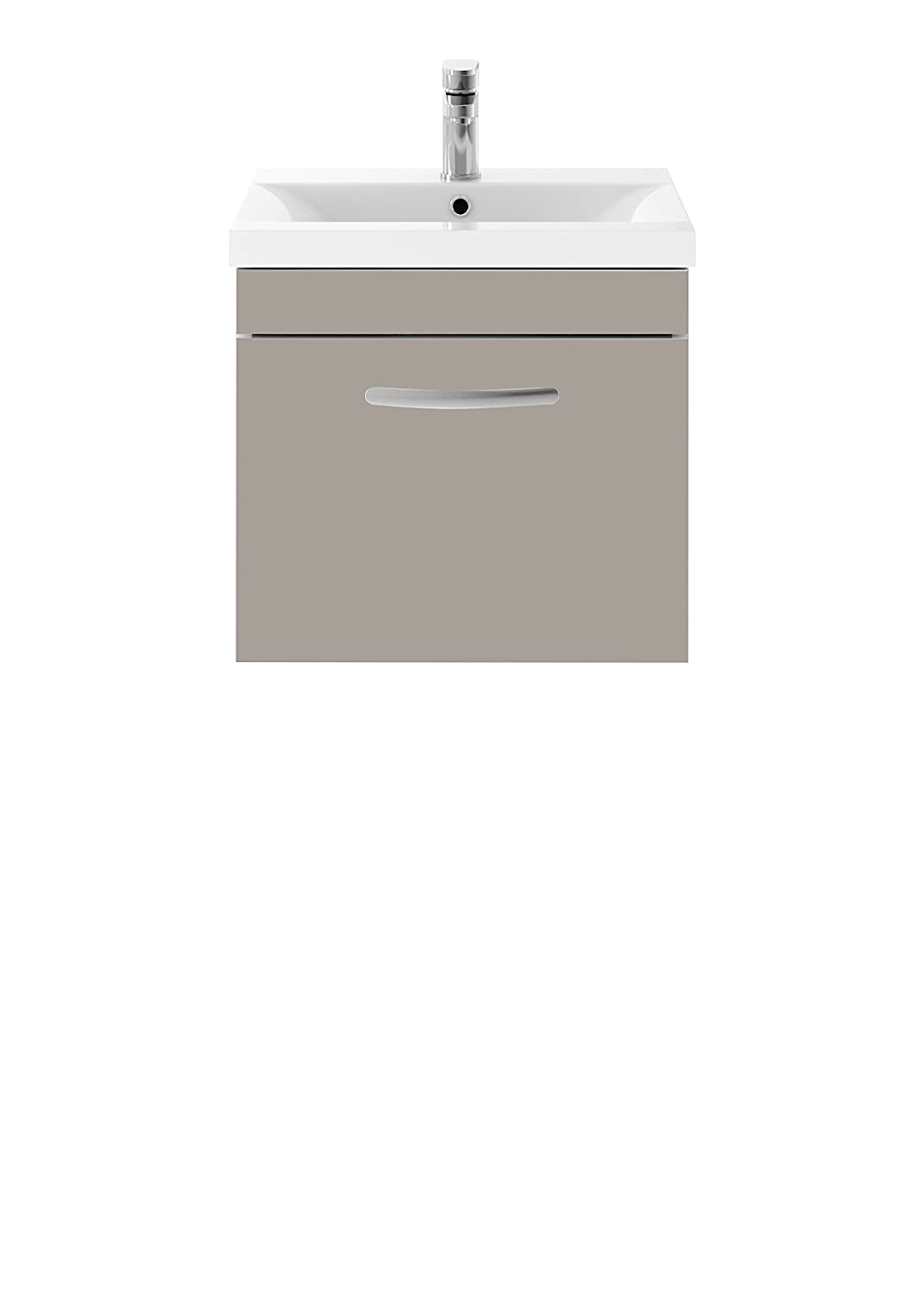 Hudson Reed Athena Stone Grey 505 x 448mm Wall Hung Vanity Unit Cabinet & Basin 2 Premier