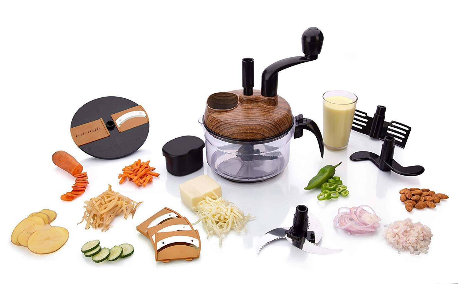 Buy Xenon Venture Kitchen Aata Dough Maker Onion Garlic Chilly Dry Fruit Carrot Cucumber Chopper Cutter Potato Slicer Food Processor Machine Multicolour Online At Low Prices In India Amazon In