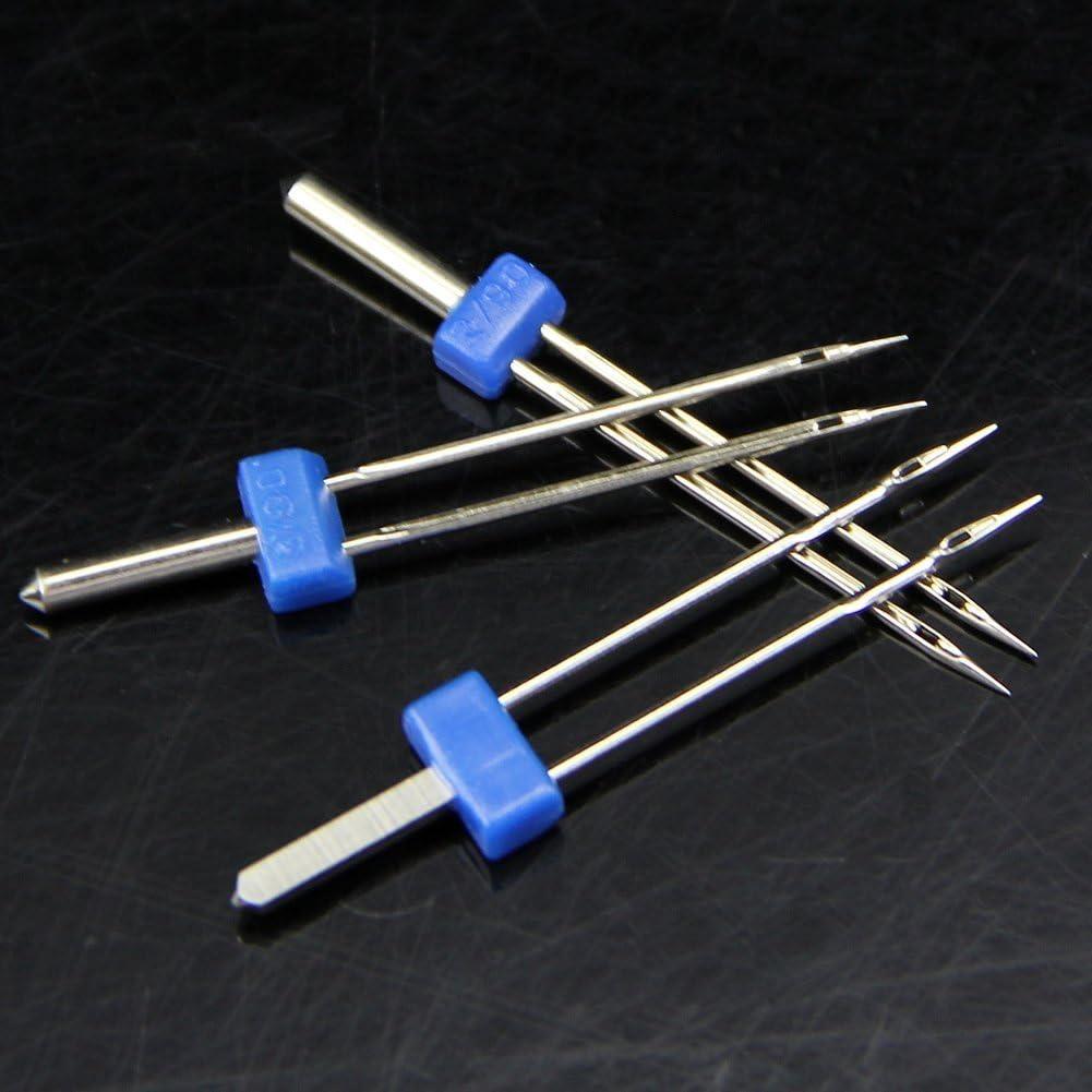 3 x agujas HeroNeo doble de pines para máquina de coser tamaño 2,0 ...