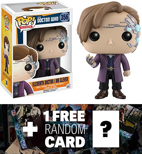 Eleventh Doctor as Mr Clever: Funko POP! x Doctor Who Vinyl Figure + 1 FREE Official Dr Who Trading Card Bundle (106818)