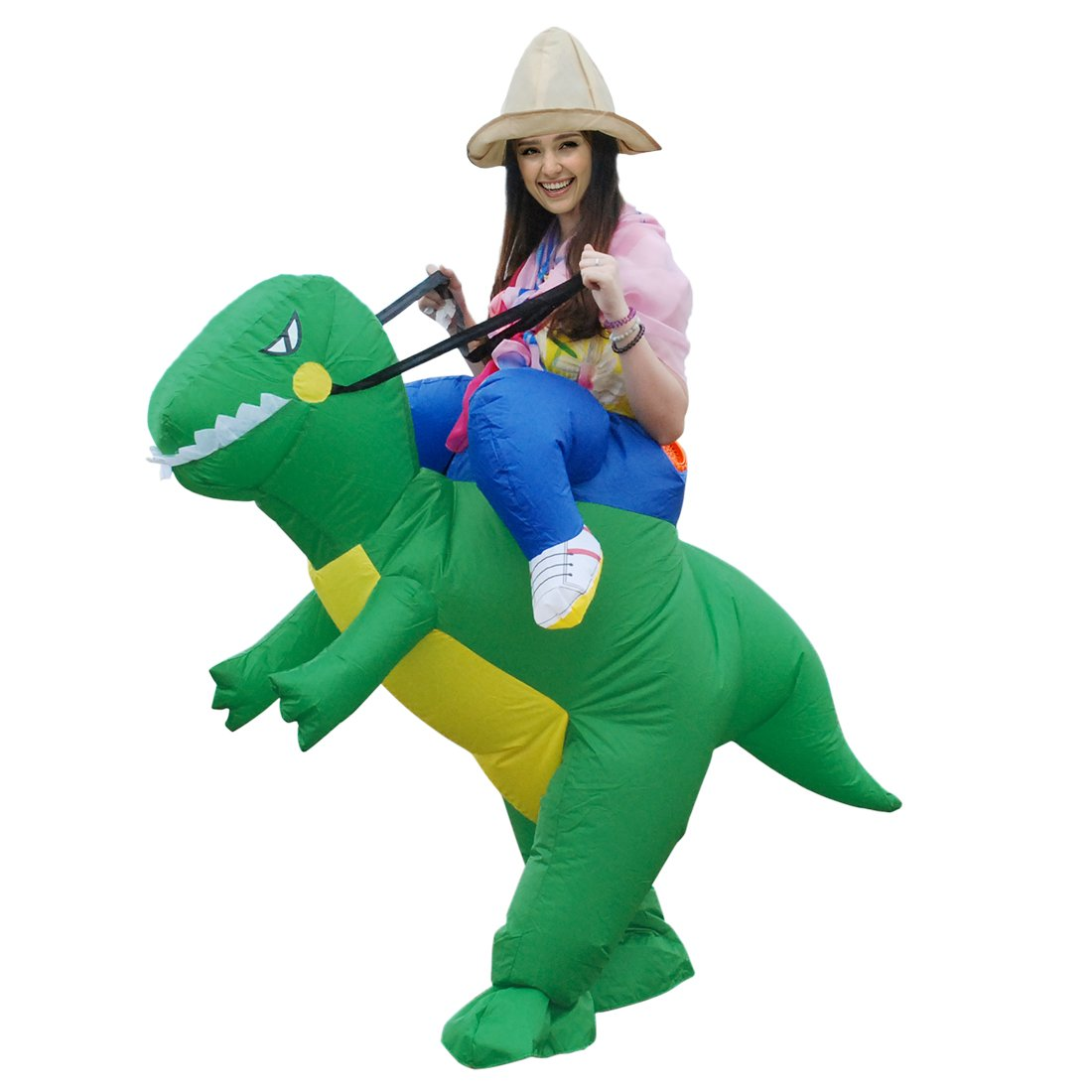 Kooy Dinosaur Inflatable Fancy Dress Halloween Blow up Costume for Adults (Dinosaur)
