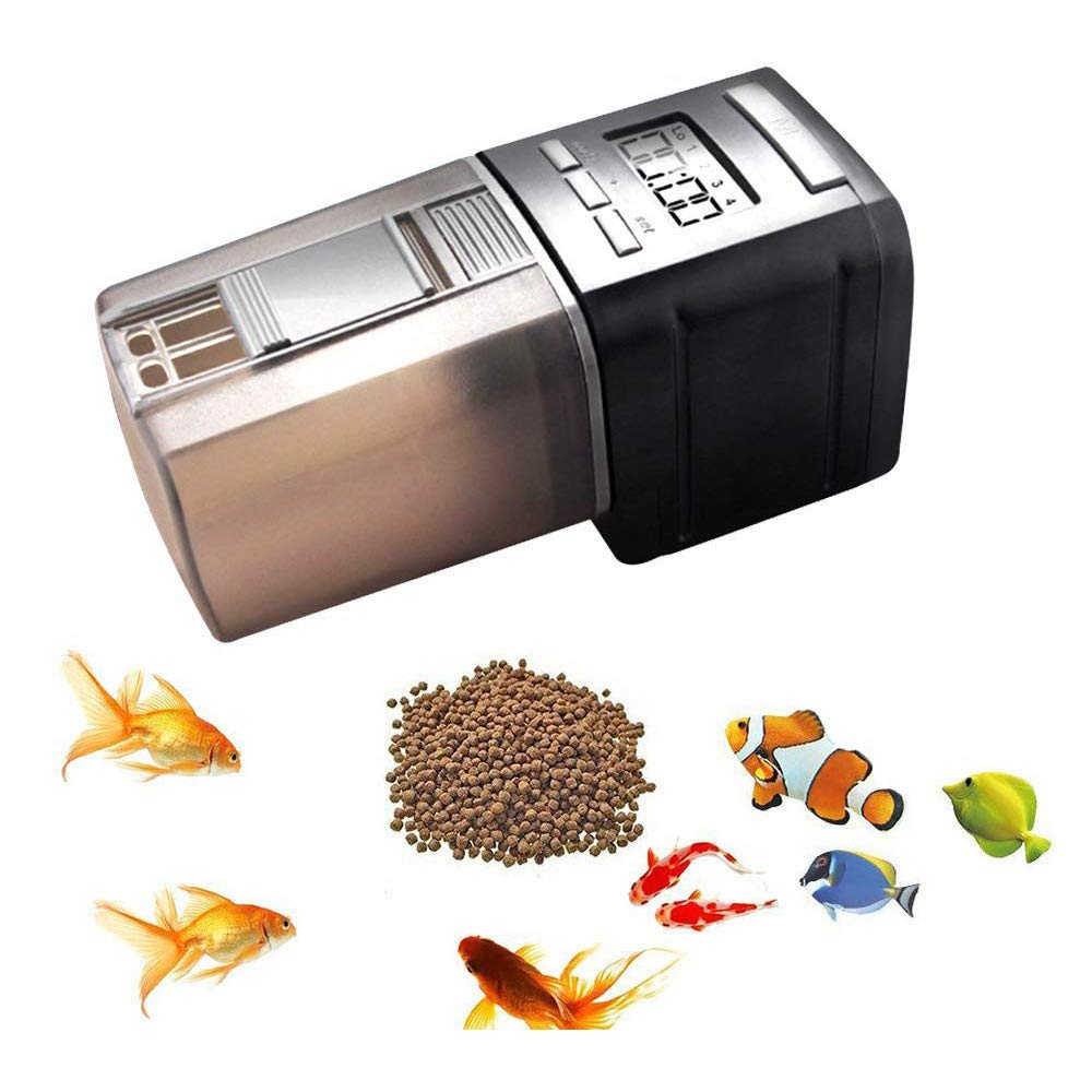 RLQ Fish Feeder, Automatic Fish Food Timer Feeder, Aquarium&Fish Tank Programmable Vocation Fish Food Dispenser