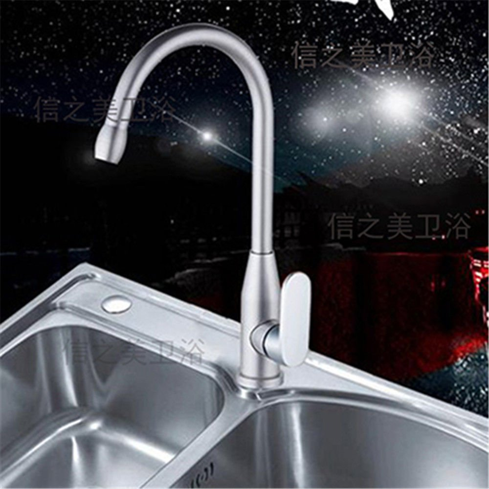 LHbox Basin Mixer Tap Bathroom Sink Faucet Black hot and Cold Basin Gold Black Gold wash basins taps Space Aluminum Kitchen Dish Washing Basin Faucet, Aluminum Space.