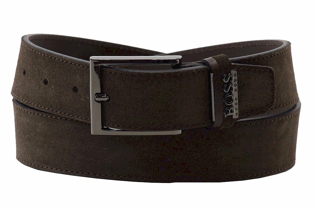 BOSS Hugo Boss Men's Sabit Belt, Dark Brown, 36