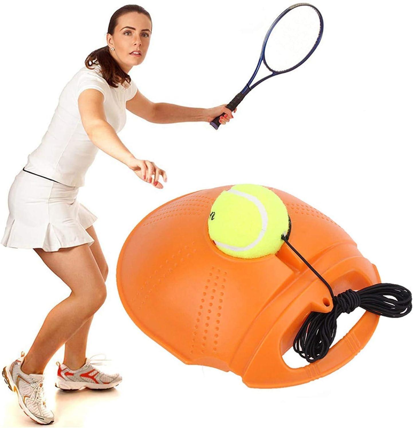 Self Tennis Training Tool Ball Back Training Gear Self Tennis Portable Exercise Baseboard for Beginner COOBNO Tennis Trainer Rebound Ball