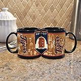 MLB Detroit Tigers 11-Ounce Black Nostalgic Mug (2 Pack)