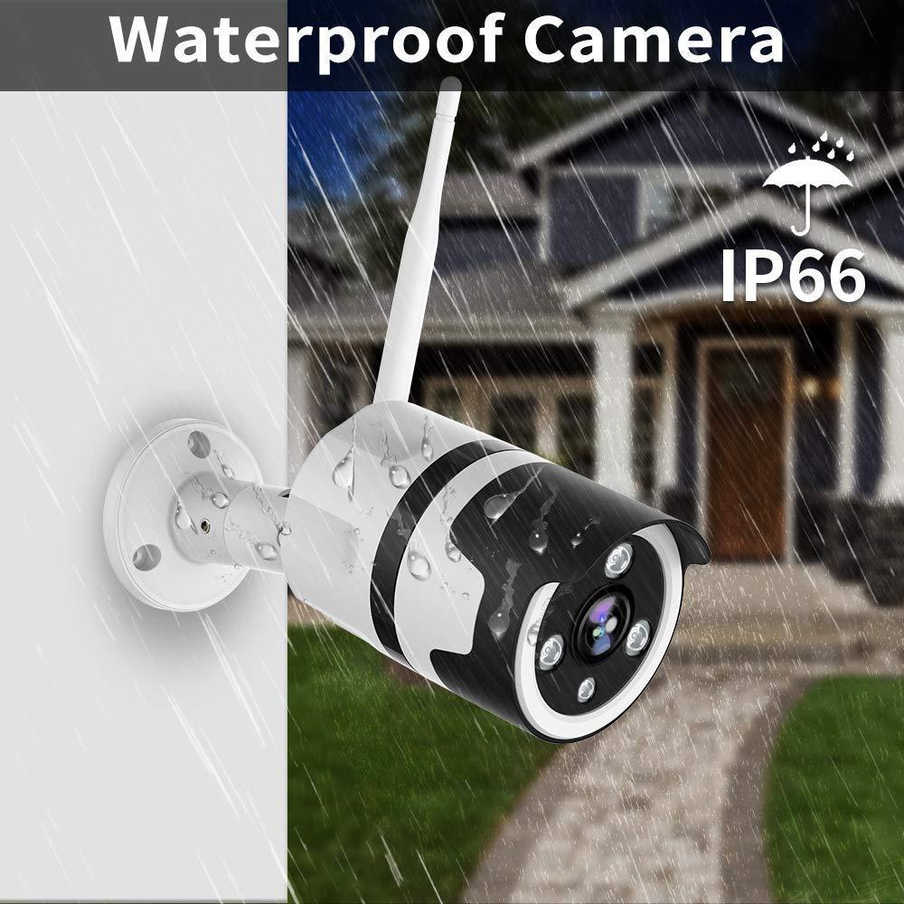 Impermeable IP66 Webcam con Versi/ón Nocturna Audio Bidireccional Detecci/ón de Humano Movimiento Netvue C/ámaras de Vigilancia WiFi Exterior 2 Pack Full HD 1080P C/ámara Seguridad Compatible Alexa