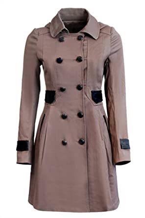 New Womens Ladies Brown Summer/Spring Mac/Trench Coat smart long ...
