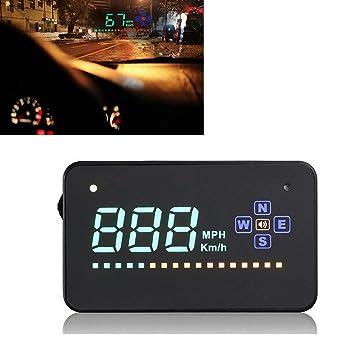 WEPECULIOR Compatible con Todo el Velocímetro del Coche Velocímetro Digital del Coche de GPS A2 Exhibición