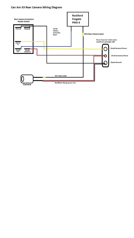 amazon com utv stereo rear camera mount for cam am maverick x3 rh amazon com 4 by 5 Camera Diagram Board Camera Wiring Diagram
