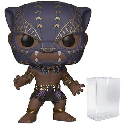Marvel: Black Panther - Black Panther Warrior Falls Funko Pop! Vinyl Figure (Includes Compatible Pop Box Protector Case): Toys & Games [5Bkhe0205990]