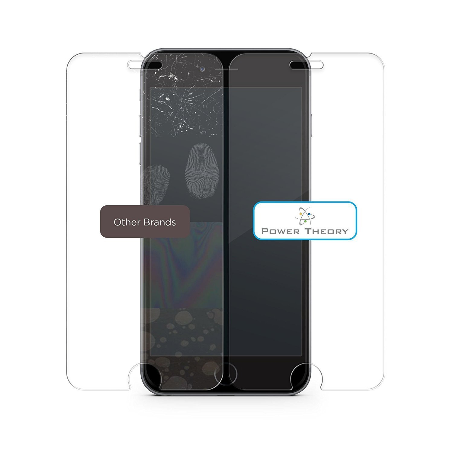 Power Theory iPhone 8 // iPhone 7 Glass Screen Protector Premium Tempered Glass with Easy Install Kit 2-Pack