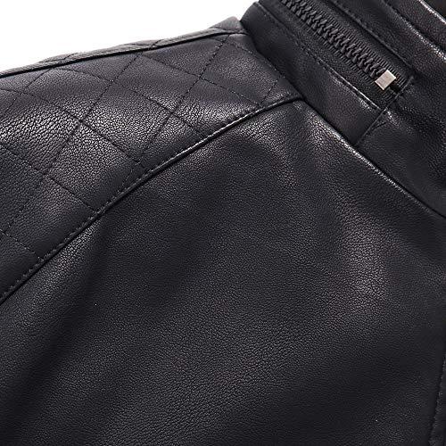 Veste Hiver Zipper En Cuir Casual Nior Homme Automne Thermique Ux1OqznUw