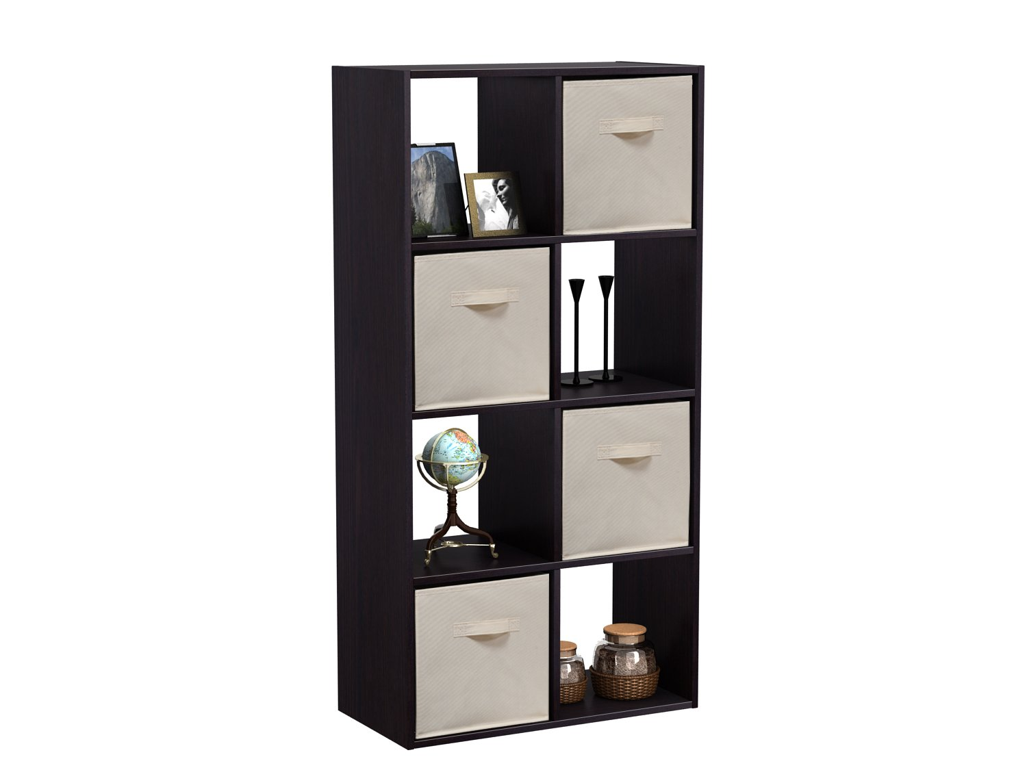 Homestar 8 Cube with Fabric Bins, Black Brown by Home Star (Image #3)