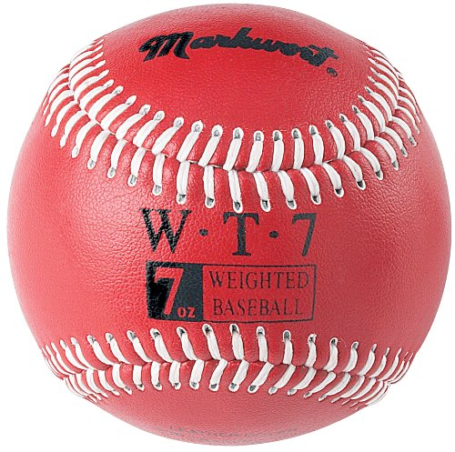 Markwort Weighted 9-Inch Baseballs-Leather Cover , Red