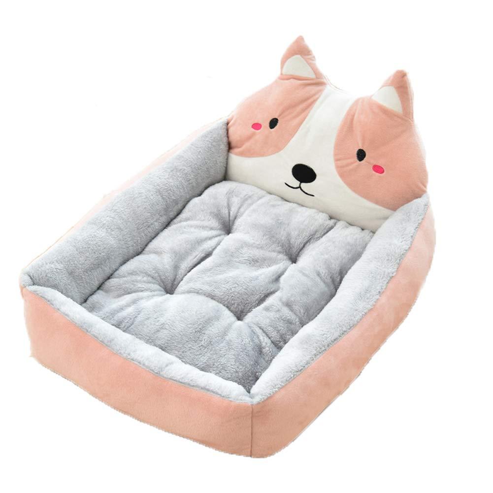 Rubberred MediumPet Nest golden Retriever Dog Pet Bed Kennel Pet Supplies Cartoon Bed Mat Mat Cat New Rectangle Pet Bed Cats Bed Premium Bedding,Yellow,XL