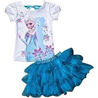 Moebao Frozen Little Girls' 2Pcs Suit Cartoon Shirt and Skirt Set