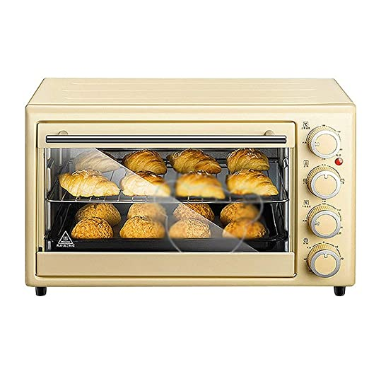 LQRYJDZ Mini horno tostador con Timer-Toast Ajustes asar, 1600W ...