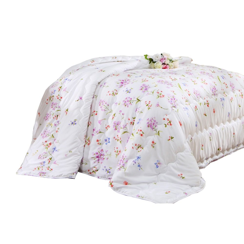 Air conditioning quilts, cool summer quilts, summer thin quilts, summer flowers in summer single double air conditioning quilts (Size : 203229cm)