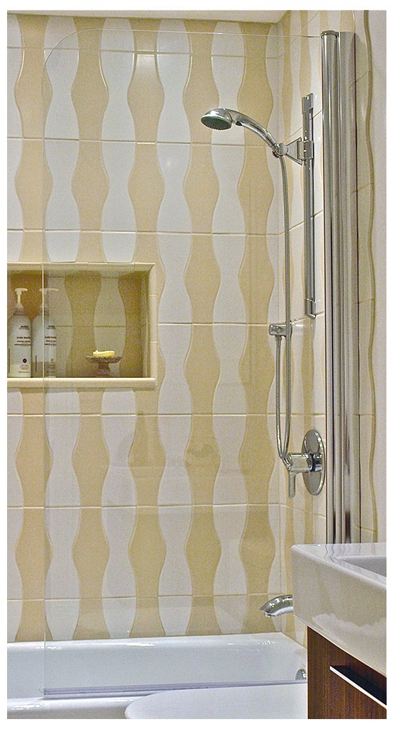 Ark Showers 6008SPS Semi-Frameless Bathtub Shower Screen and Accessory Polished Silver