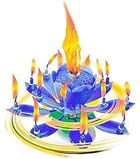 Musik Blumenkerzen Blau Alles Gute Zum Geburtstag Mit Fontane Und Kerzen Tortendeko Hochzeitsfontane 14