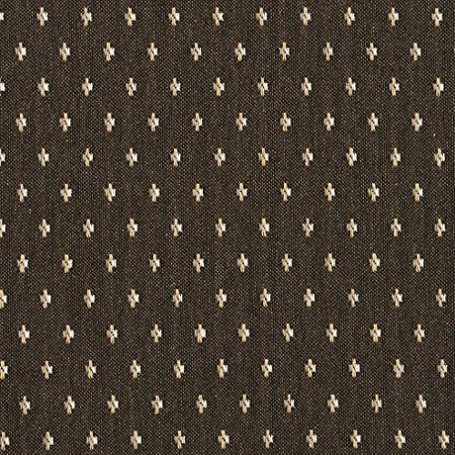 Desert Brown and White Modern Dot Damask Upholstery Fabric by the yard - Textures Modern Sofa