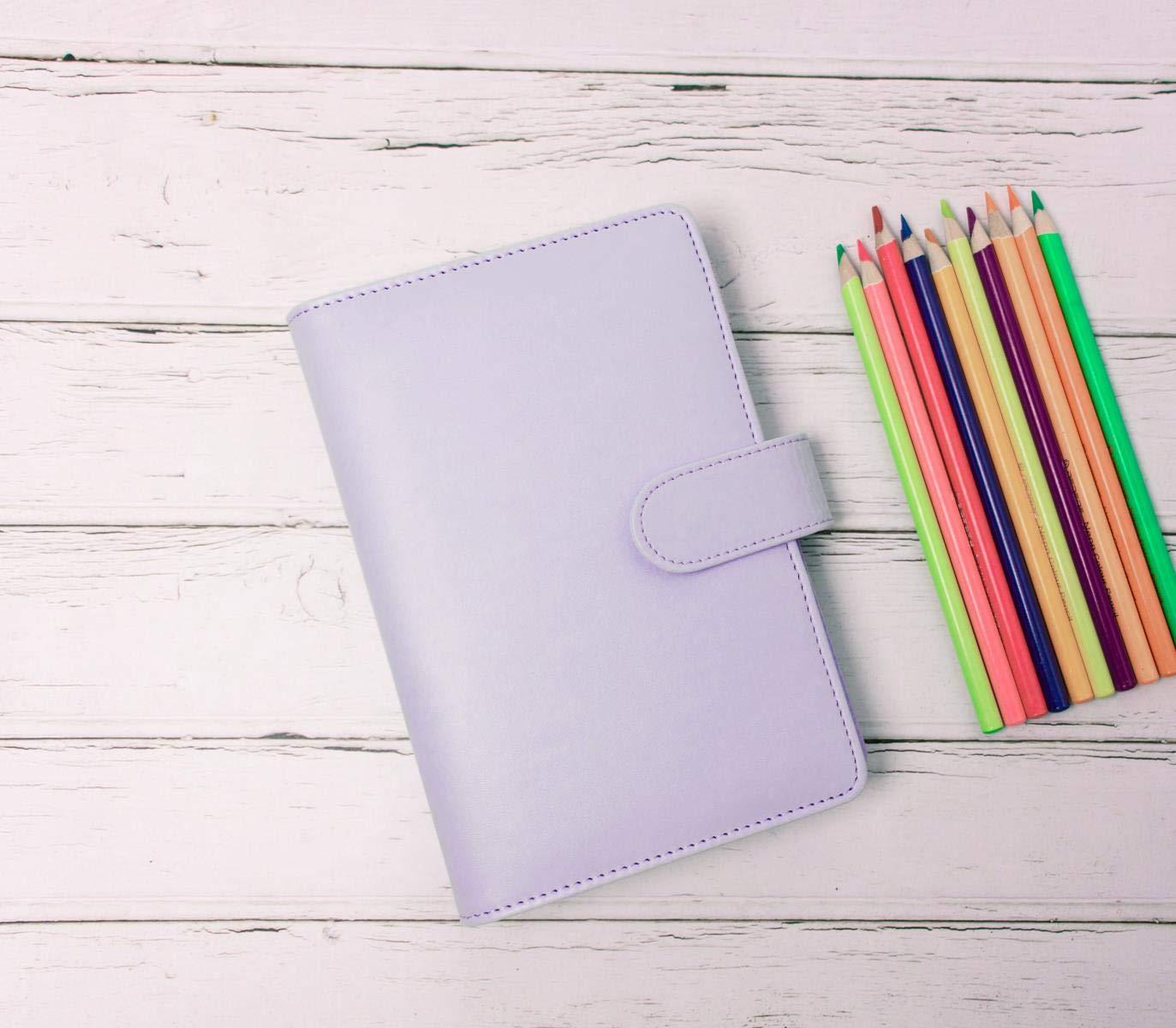 Amazon.com: Passion bonito cuaderno A6 de piel color violeta ...