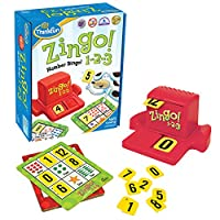 Juego de Bingo Número Think-3 de Zingo 1-2-3 para mayores de 4 años - Ganador del Premio y Nominado al Juguete del Año