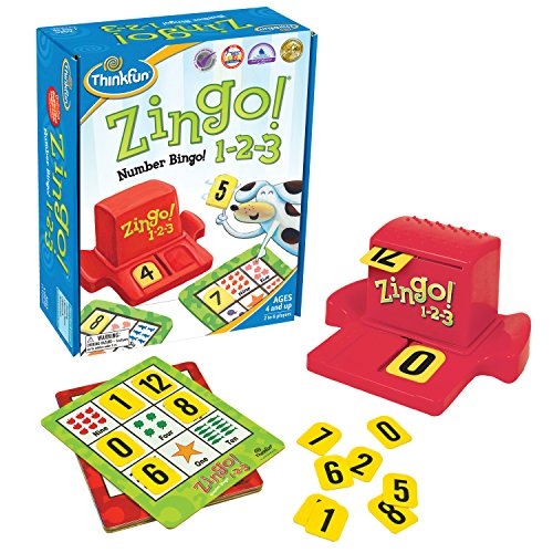 Math Games 4 Kids - ThinkFun Zingo 1-2-3 Number Bingo Game