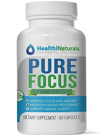 Amazon Com Pure Focus Nootropics Supplement With Dha Reduces