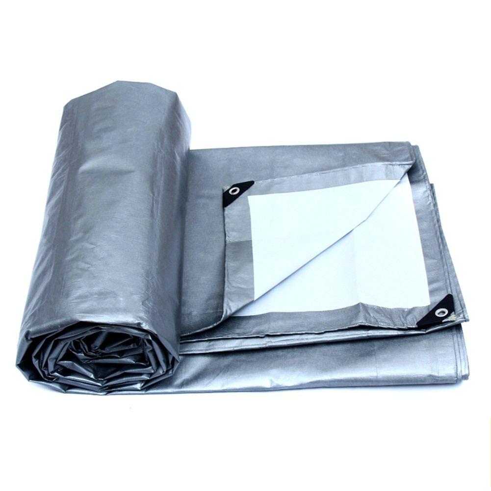 PENGFEI ポリエチレン オーニング 防水 雨布 ピクニックマット 植物 動物 日焼け止め プラスチック リノリウム 抗酸化、 6サイズのオプション ( 色 : Gray+white , サイズ さいず : 8x10M ) B07BSNFP49  Gray+white 8x10M