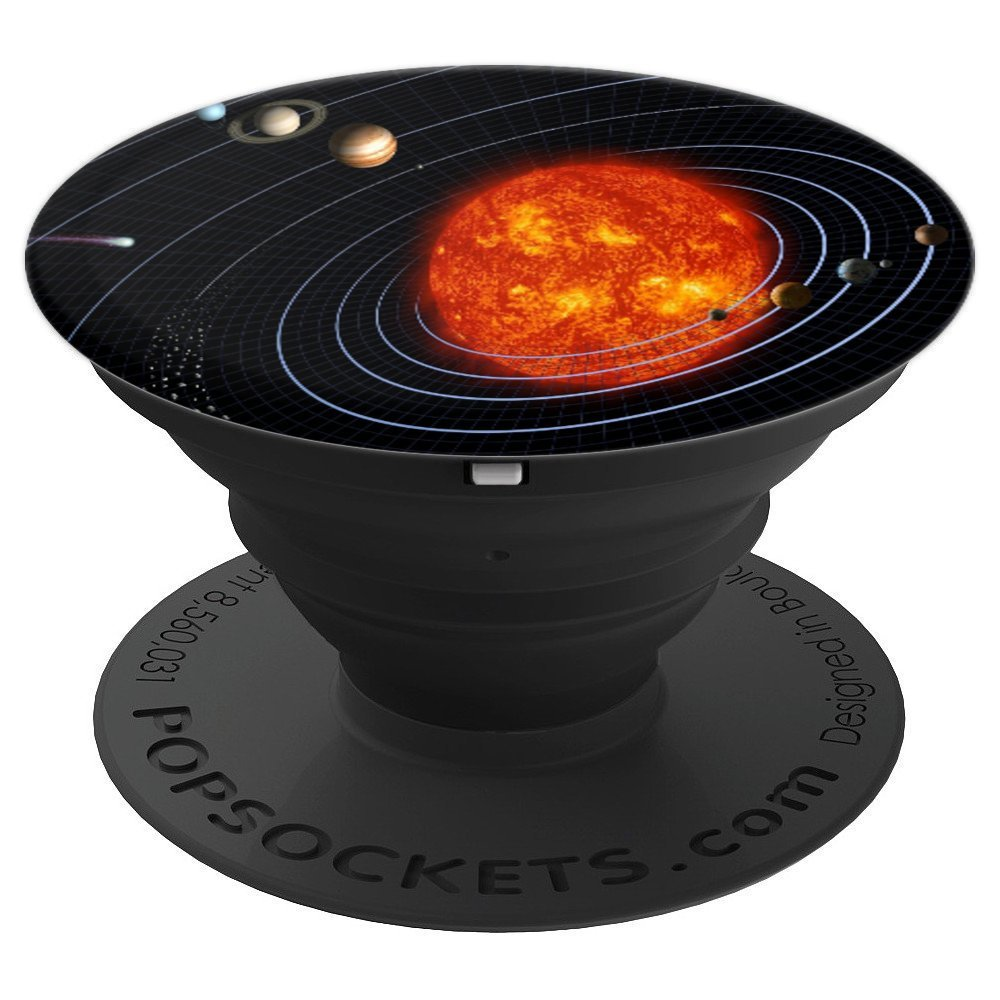 Illustration Abstract Solar System Background Design Art - PopSockets Grip and Stand for Phones and Tablets