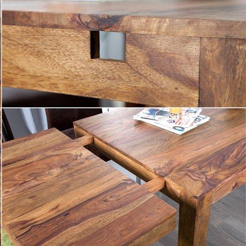 lounge zone esstisch bonjanna echtholz massivholz sheesham 120cm ausziehbar bis 200cm 5895 amazonde kche haushalt