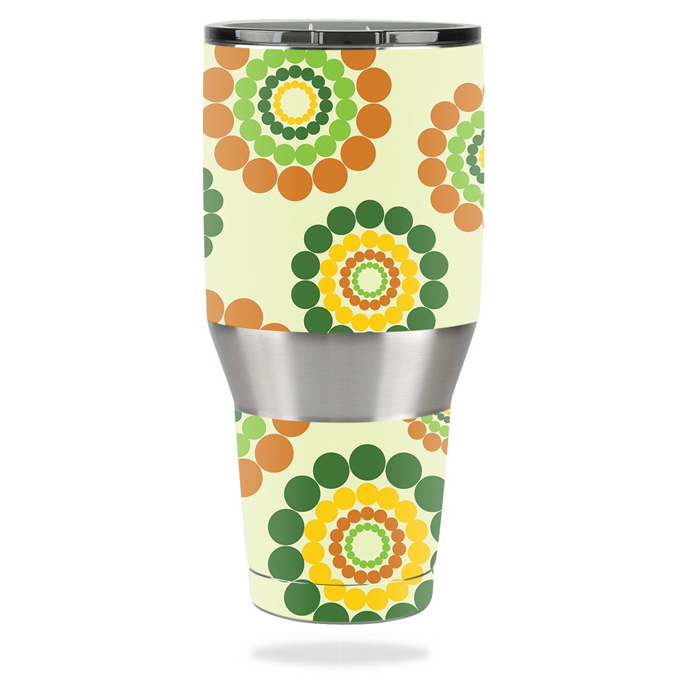 MightySkins Skin for Ozark Trail 40 oz Tumbler – Hippie Flowers   Protective, Durable, and Unique Vinyl Decal wrap Cover   Easy to Apply, Remove, and Change Styles   Made in The USA