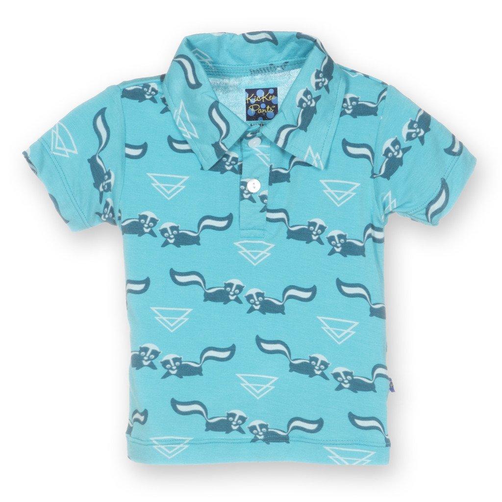 Kickee Pants Baby Boys Print S//s Polo Prd-kpct193s16d1-bpdi