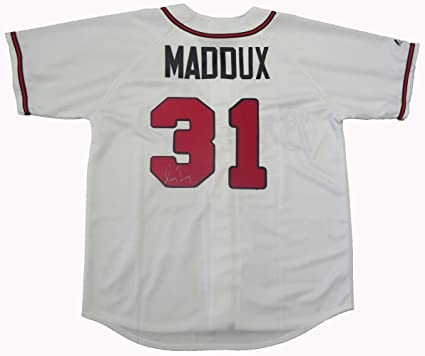 on sale bfb91 652bb Greg Maddux Autographed Atlanta Braves Jersey W/PROOF ...