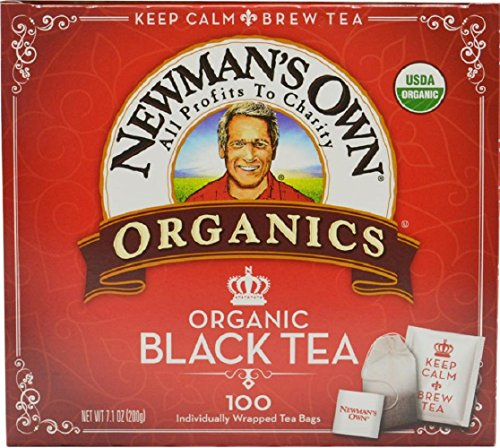 Newman's Own Organics, Black Tea Bags, 100 Count, Pack of 5