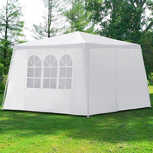Pavillon 3x3m mit 4 Seitenwände Partyzelt Festzelt Gartenzelt Eventpavillon