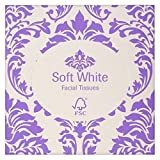 Soft White Facial Tissues Cube 90 per pack (PACK OF 4)