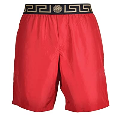 bee76f7ef4 Versace - Short de Bain - Homme Rouge Red - Rouge - Small: Amazon.fr ...