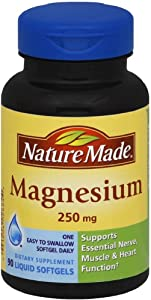 Nature Made Magnesium 250 mg Liquid Softgels 90 ea (Pack of 2)