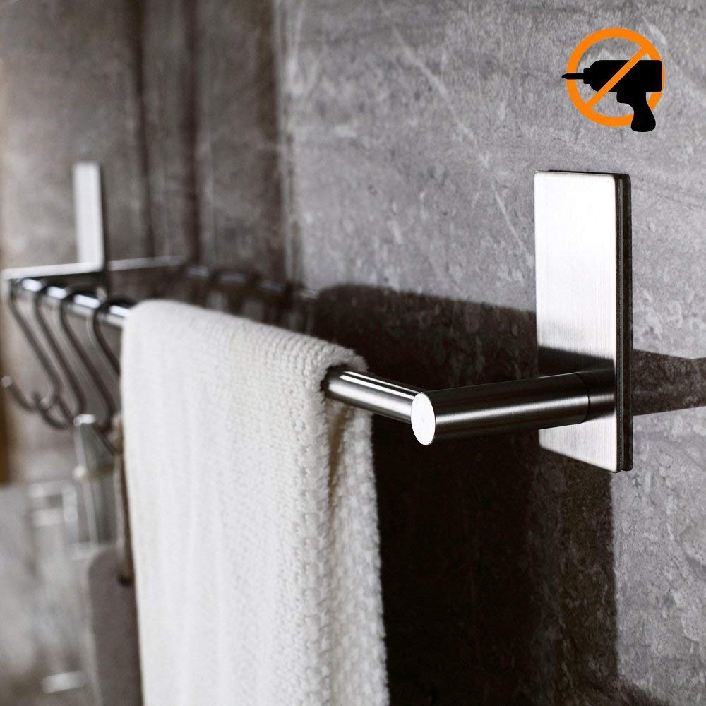 Kitlit Selbstklebende Handtuchhalter Handtuchstange Bad ohne Bohren Haken K/üchen H/ängeleiste Sp/ültuchhalter Handtuchst/änder Wand 40cm Edelstahl Handtuchhaken