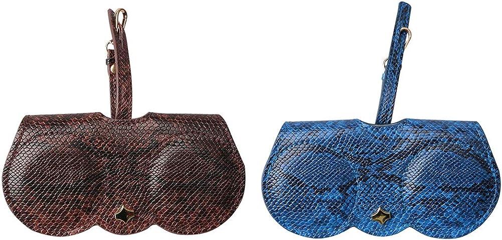 2 St/ück multifunktional aus PU Brillenetui Sopaila Brillenetui