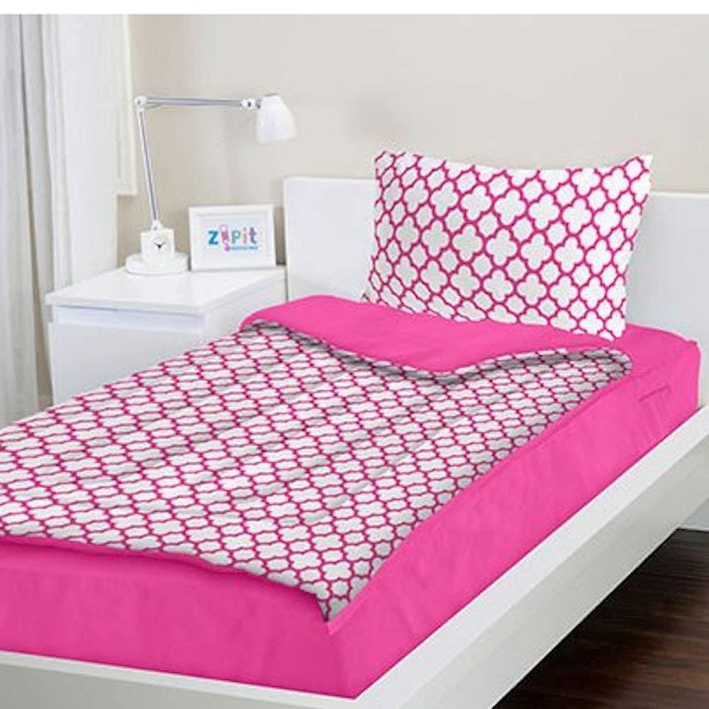 TVTime Direct ZIPIT Bedding Set (Pink Clover) Queen