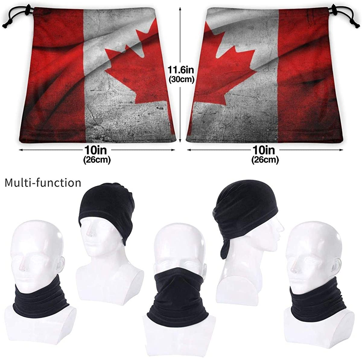 Canada Flag Wave Grunge Winter Neck Warmer Gaiter//Balaclava Ski Face Mask Cover Neck Gaiter Tube Ear Warmer Headband /& Face Mask Hats Headwear for Cold Weather Winter Outdoor Sports Black