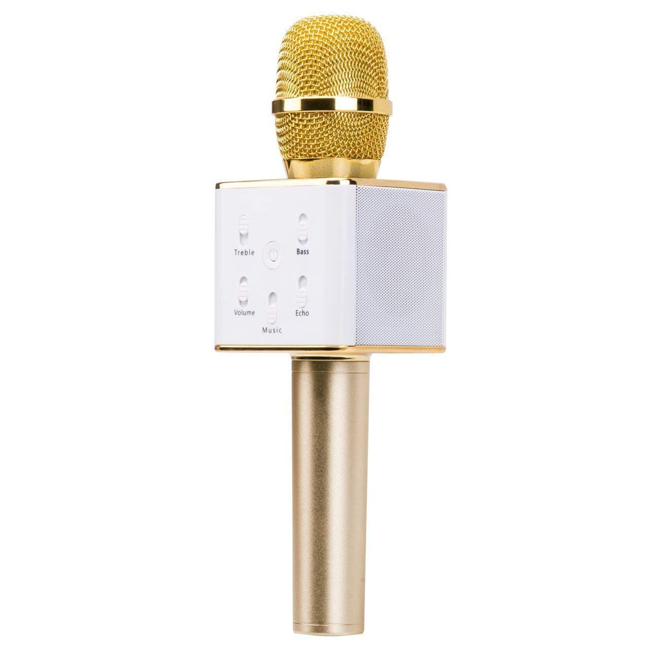 Portable Wireless Karaoke Microphone, Built-in HIFI Speaker and 2600mAH battery capacity, Support 32GB TFcard,Easter Gift 3-in-1 Portable handheld Speaker for iPhone/Android/iPad/Sony,PC and All Smart